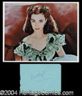 Autographs, Vivien Leigh Album Page Signature