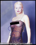 Autographs, Jenny McCarthy Sexy Signed 8 x 10 Photo