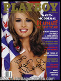 Autographs, Karen McDougal Signed July 1998 Playboy