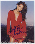 Autographs, Alyssa Milano Sexy Signed 8 x 10 Photo