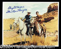 Autographs, Clayton Moore Signed 8 x 10 Photo Lone Ranger