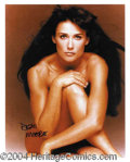 Autographs, Demi Moore Signed 11 x 14 Photograph