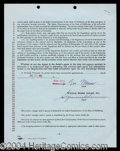 Autographs, Vic Morrow Signed Contract Agreement