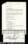 Autographs, Eddie Murphy Rare Signed SNL Contract