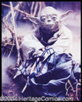 Autographs, Frank Oz Signed Star Wars Photo of Yoda
