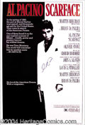 Autographs, Al Pacino Signed Scarface Movie Poster