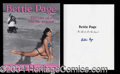 Autographs, Bettie Page Rare Signed Book
