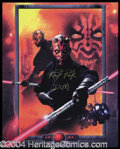 Autographs, Ray Park Signed Star Wars Photograph