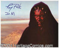 Autographs, Ray Park Signed Photo Star Wars Darth Maul