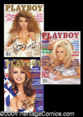 Autographs, Playboy Playmate of The Year Signed Archive