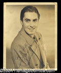 Autographs, Tyrone Power Vintage Signed Photo