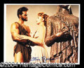 Autographs, Steve Reeves Signed 8 x 10 Photo as Hercules