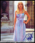 Autographs, Tanya Roberts Signed 8 x 10 Bond Photograph