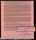 Autographs, Edward G. Robinson Signed Contract