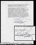 Autographs, Mickey Rooney Signed Contract Agreement