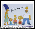 Autographs, Matt Groening Signed Simpsons Photo