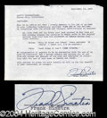 Autographs, Frank Sinatra Signed Contract Agreement