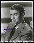 Autographs, Jimmy Stewart Signed 8 x 10 Photograph