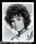 Autographs, Barbara Streisand Signed 8 x 10 Photograph