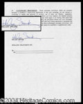 Autographs, Hilary Swank Early Signed Document