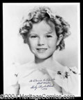 Autographs, Shirley Temple Signed 8 x 10 Photograph