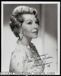 Autographs, Lana Turner Signed 8 x 10 Photo