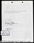 Autographs, Twiggy Rare Signed Contract Agreement