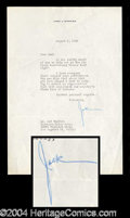 Autographs, Jack Warner Typed Letter Signed Warner Bros
