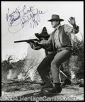 Autographs, John Wayne Awesome Signed 8 x 10 Photo