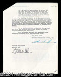 Autographs, Jack Webb Signed Contract Agreement