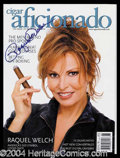 Autographs, Raquel Welch Signed Cigar Aficinado Magazine