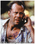 Autographs, Bruce Willis Signed Die Hard Photograph