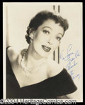 Autographs, Loretta Young Vintage Signed Photograph