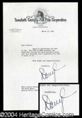 Autographs, Darryl F. Zanuck Typed Letter Signed