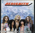 Autographs, Aerosmith Rare Signed First Album