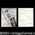 Autographs, Beatles Vintage Signed Photo The Fab Four!