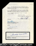 Autographs, Pablo Casals Scarce Signed Document