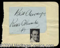 Autographs, Russ Columbo Ink Signature