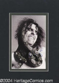 Autographs, Alice Cooper Large Signed Photograph
