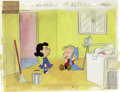 """Animation Art:Production Cel, """"The Charlie Brown and Snoopy Show"""" Lucy and Linus Van PeltAnimation Production Cel Set-Up Original Art (Lee Mendelso..."""