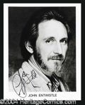 Autographs, John Entwistle Signed 8 x 10 Photo The Who