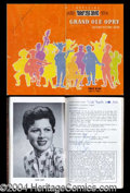 Autographs, Grand Ole Opry Signed Program Patsy Cline!
