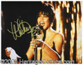 Autographs, Whitney Houston Signed 8 x 10 Photograph