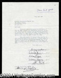 Autographs, The Ink Spots Signed Contract