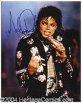 Autographs, Michael Jackson 8 x 10 Signed Photograph