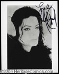 Autographs, Michael Jackson Signed 8 x 10 Photograph