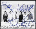 Autographs, The Jackson 5 Rare Group Signed Photo