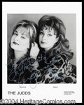 Autographs, The Judds Wynonna a& Naomi Signed Photo