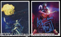 Autographs, KISS: Simmons & Frehley Signed Photo Lot