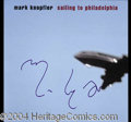 Autographs, Mark Knopfler Dire Straits Signed Album